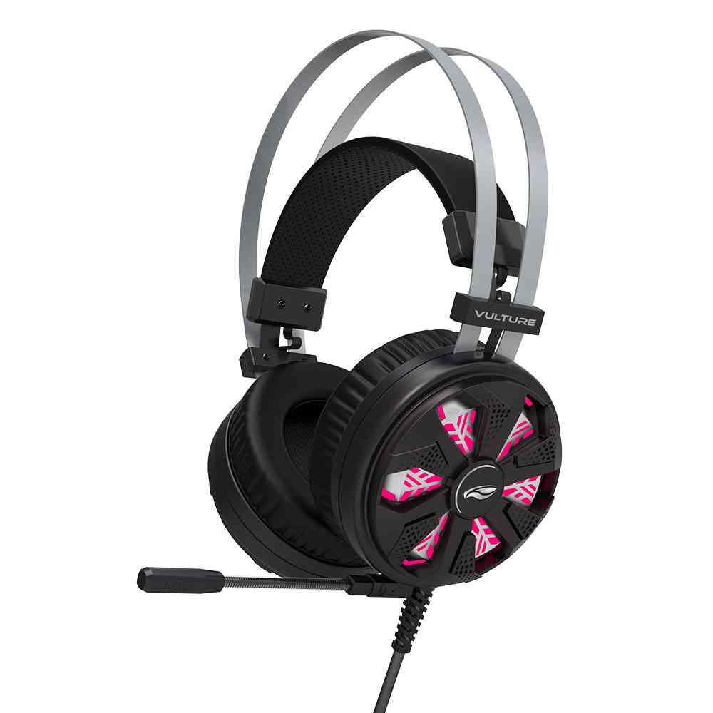 Fone com Microfone Gamer Vulture PH-G710BK USB 7.1 C3Tech