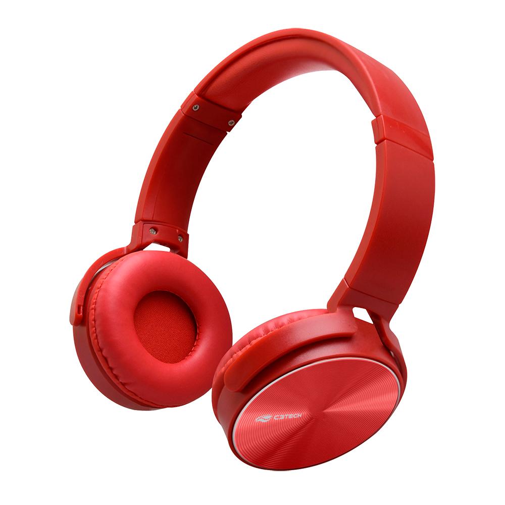 Fone Com Microfone Dobravel PH-110RD Vermelho C3Tech