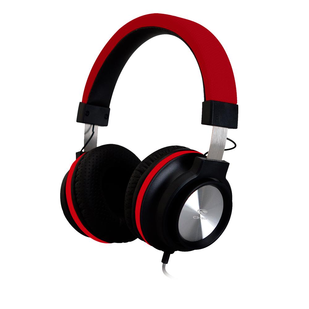 Fone Com Microfone PH-300RD Vermelho C3Tech