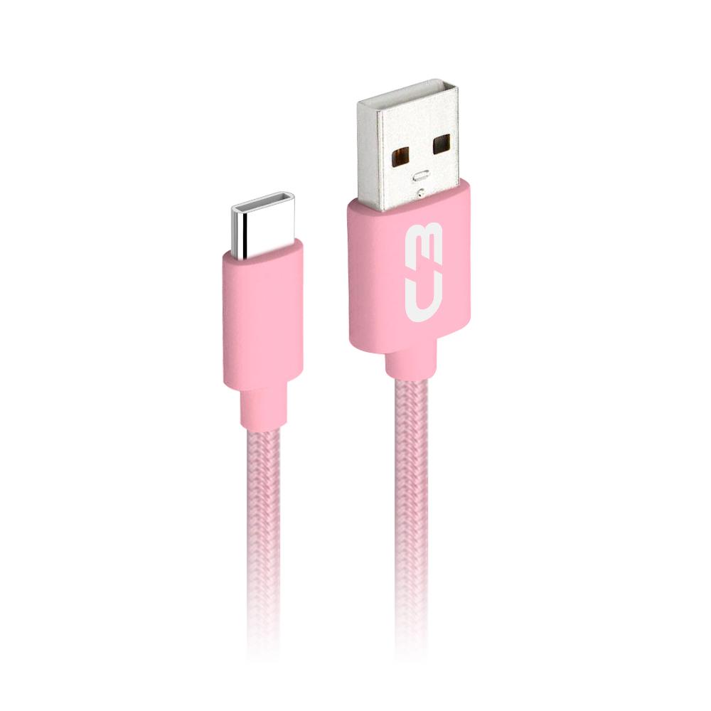 Cabo USB-USB C CB-C11PK Rosa C3Plus