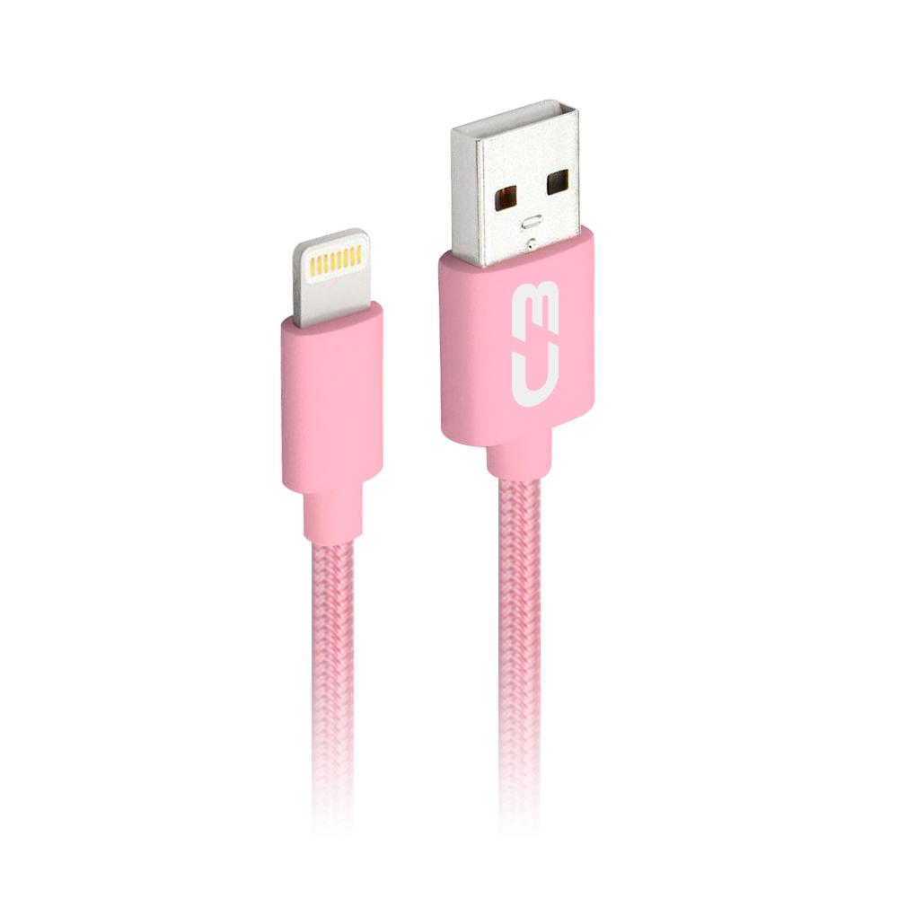Cabo USB-Lightning CB-L11PK Rosa C3Plus