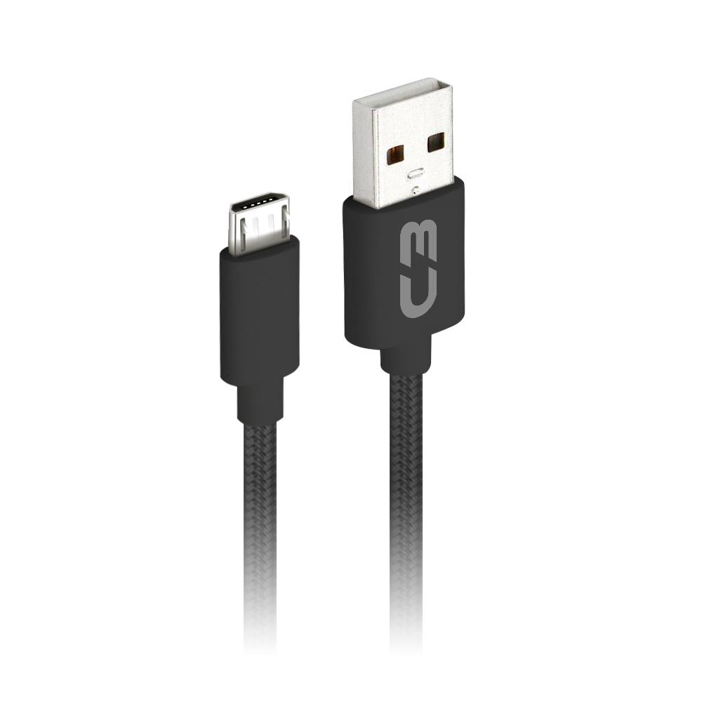 Cabo USB-Micro USB CB-M11BK Preto C3Plus