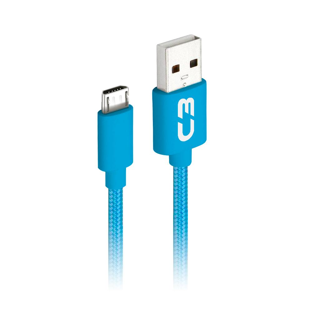 Cabo USB-Micro USB CB-M11BL Azul C3Plus