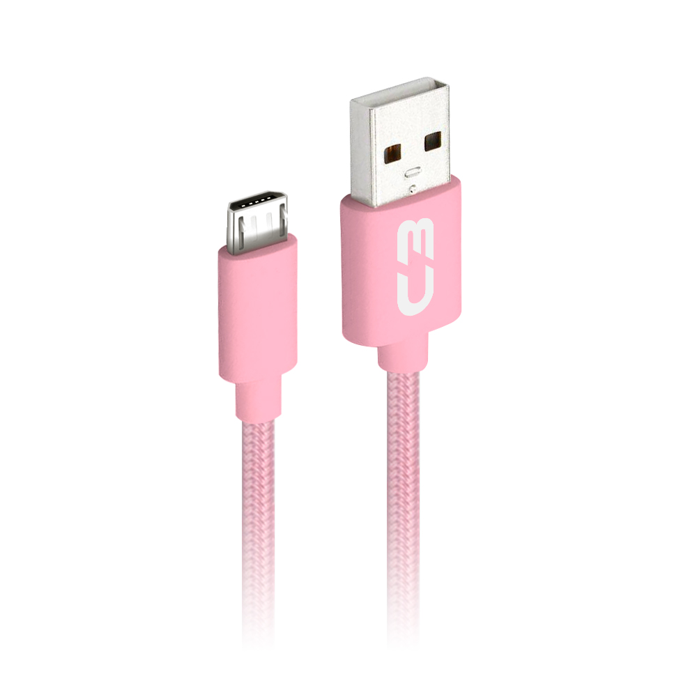 Cabo USB-Micro USB CB-M11PK Rosa C3Plus