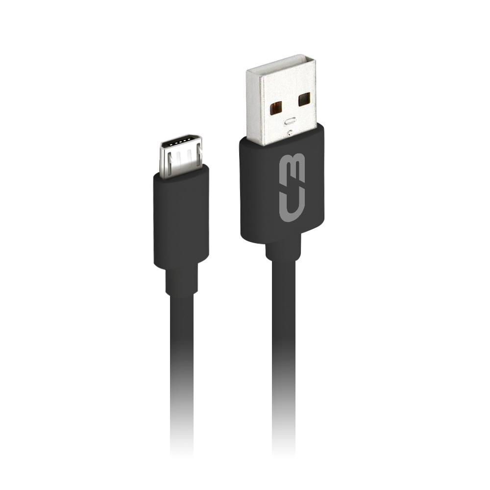 Cabo USB-Micro USB CB-M20BK Preto C3Plus