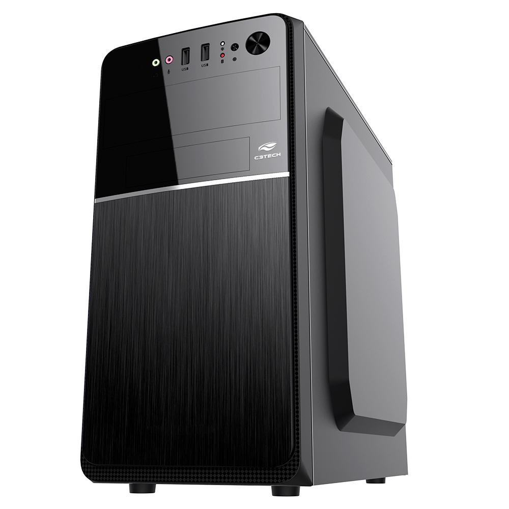 Gabinete Micro ATX MT-24V2BK Com Fonte 200W C3Plus