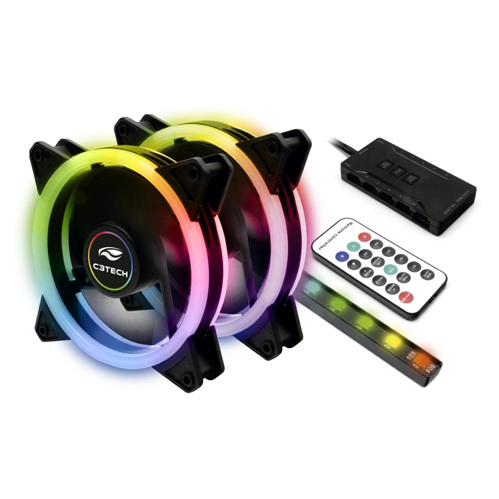Kit Cooler Fan F7-L600RGB C3Tech