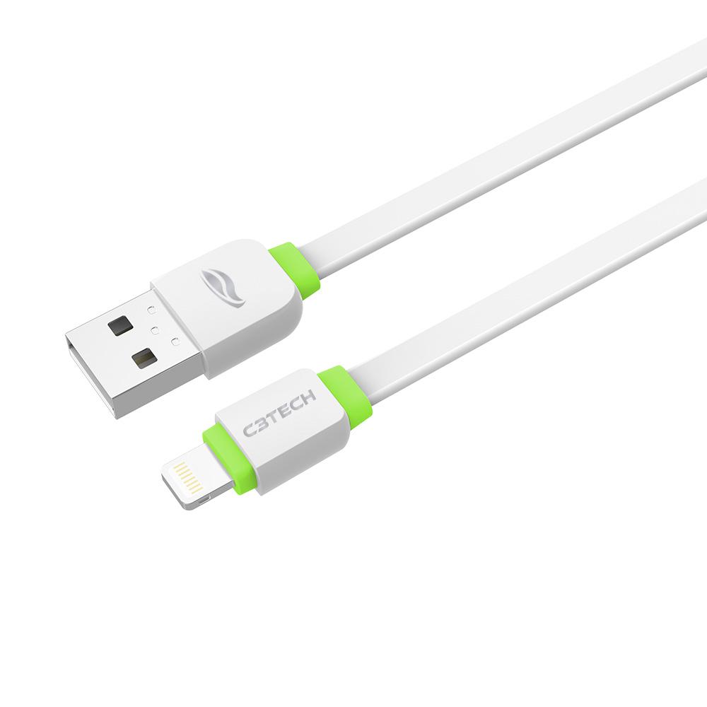 Cabo USB-Lightning CB-110WH Branco C3Tech
