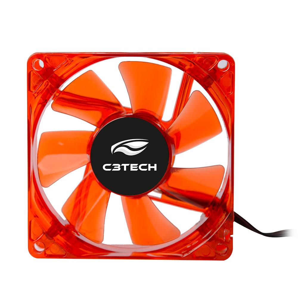Cooler Fan F7-L50RD Storm 8CM Led C3Tech