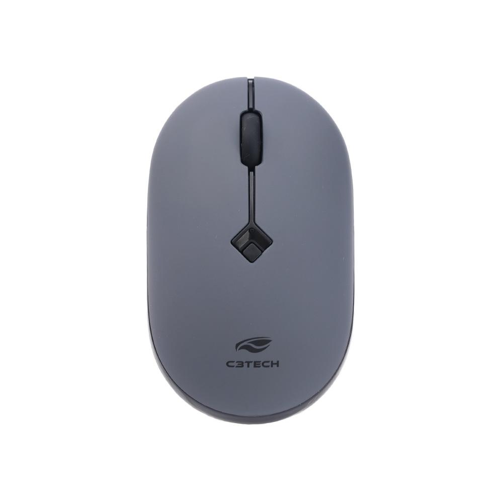 Mouse Sem Fio RC Nano M-W60GY Cinza C3Tech