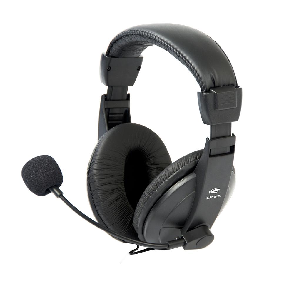 Fone Com Microfone Voicer Comfort PH-60BK C3Tech