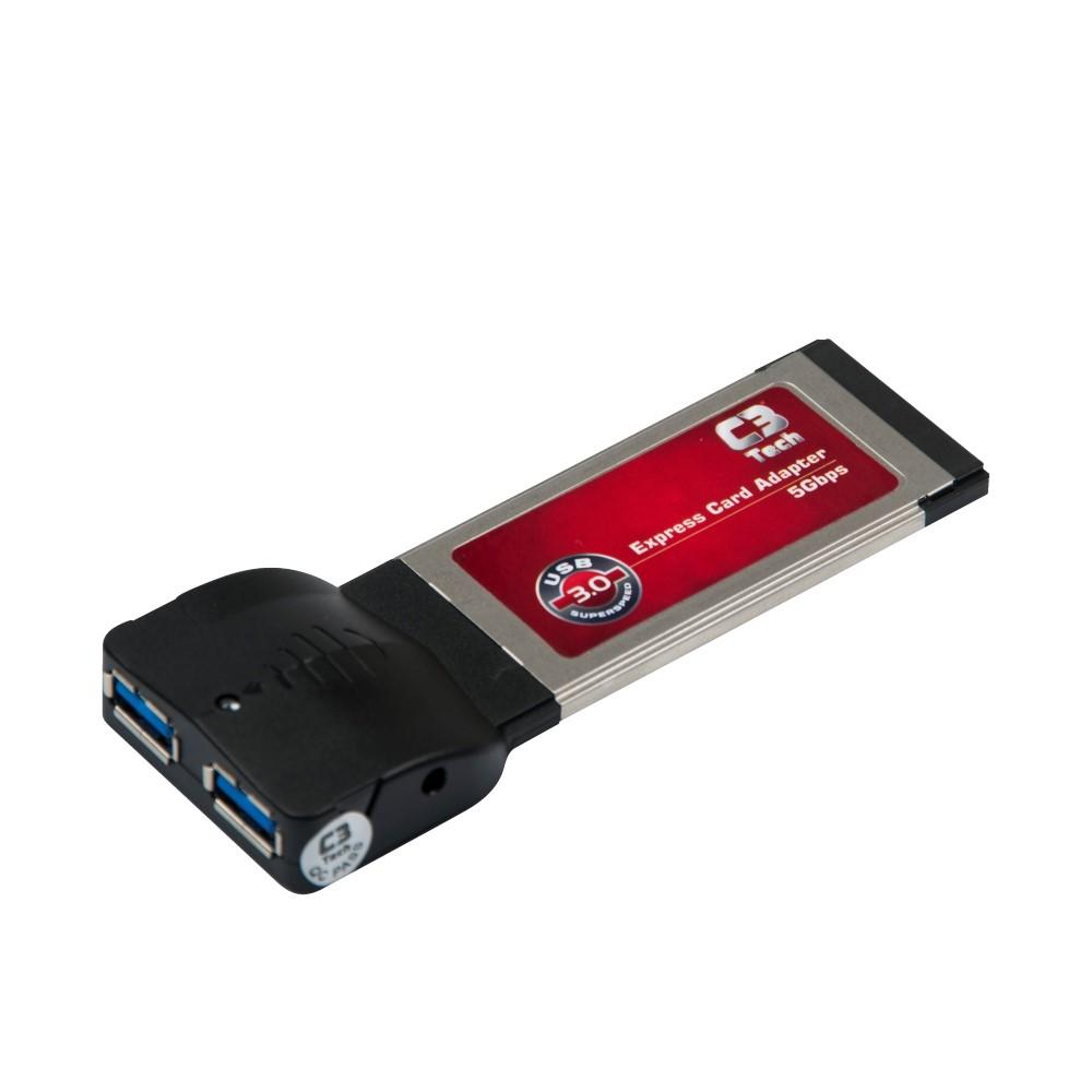 Adaptador Expres Card com 2 portas USB3.0 PU-1301 C3Tech