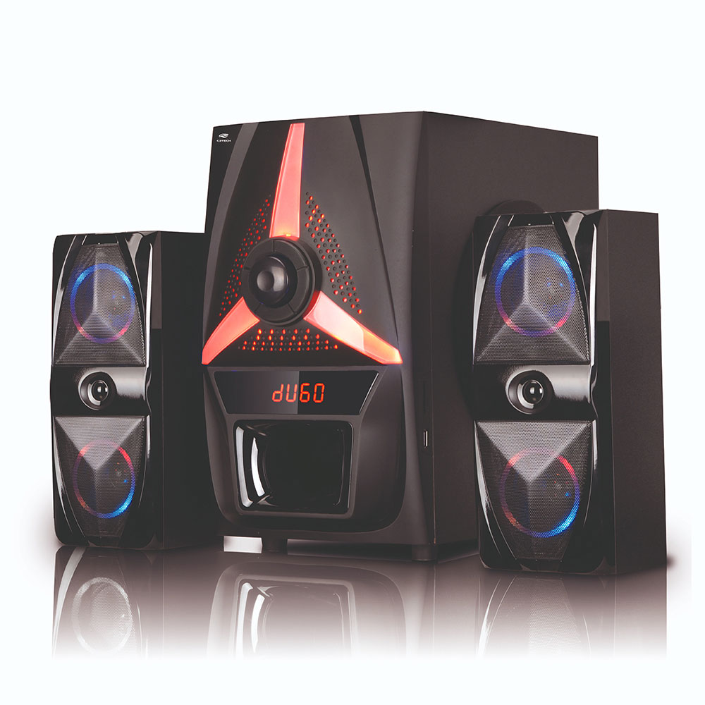 Speaker 2.1 Bluetooth SP-B500BK com FM/USB C3Tech