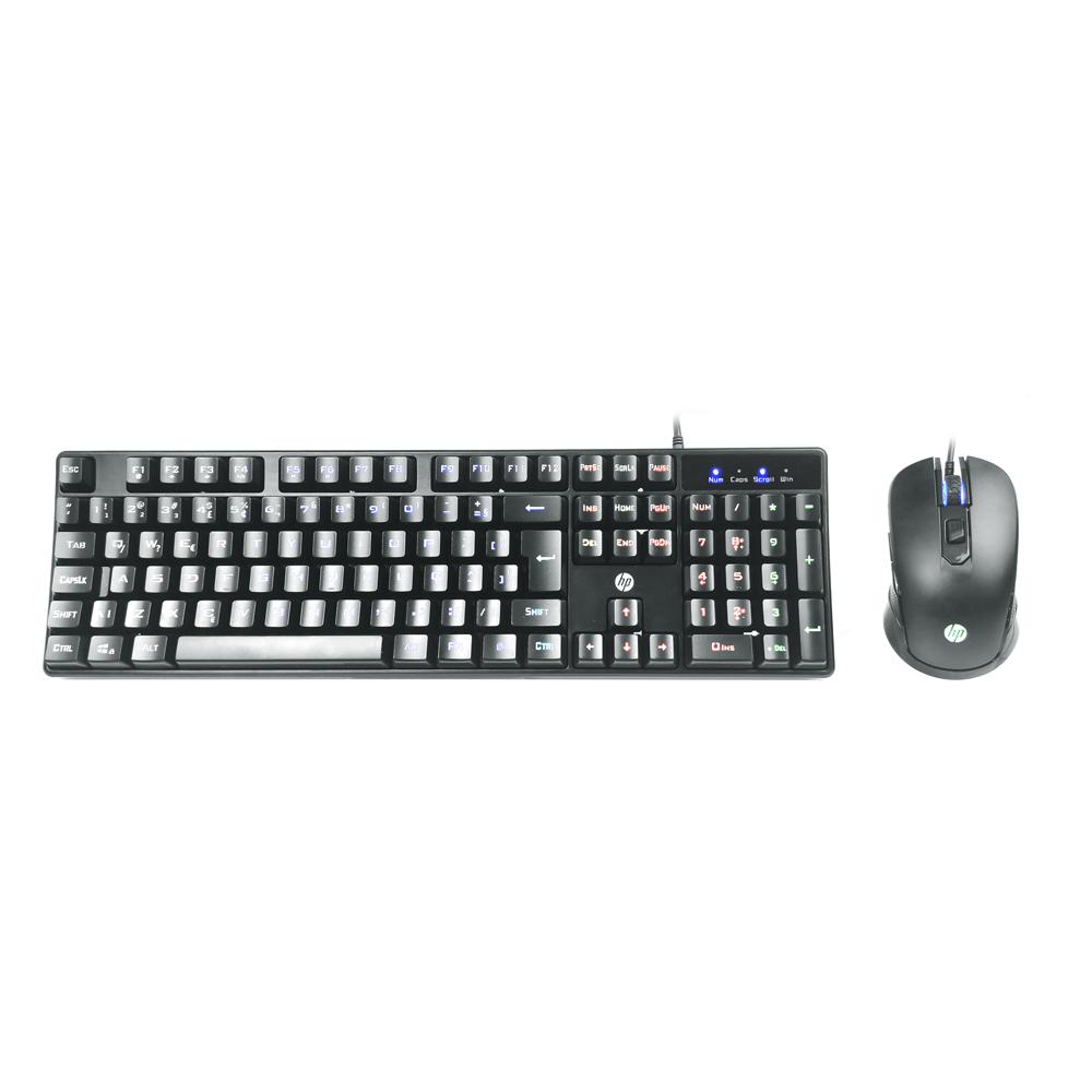 Kit Teclado + Mouse Game KM200 Preto HP