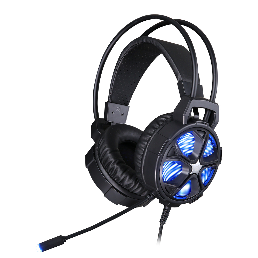 Fone Com Microfone Game Stereo 2 P2+USB H400 Preto HP