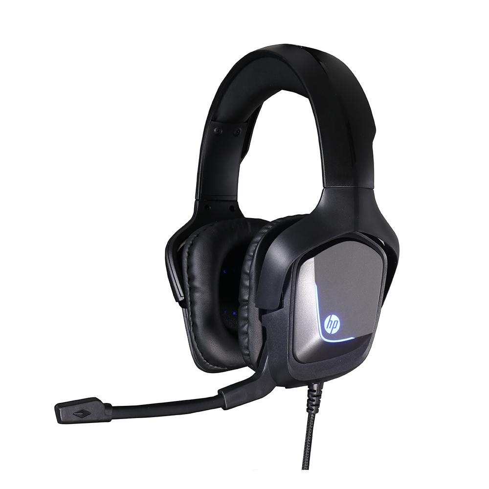 Fone Com Microfone Game Stereo 1 P2+USB H220 Preto HP