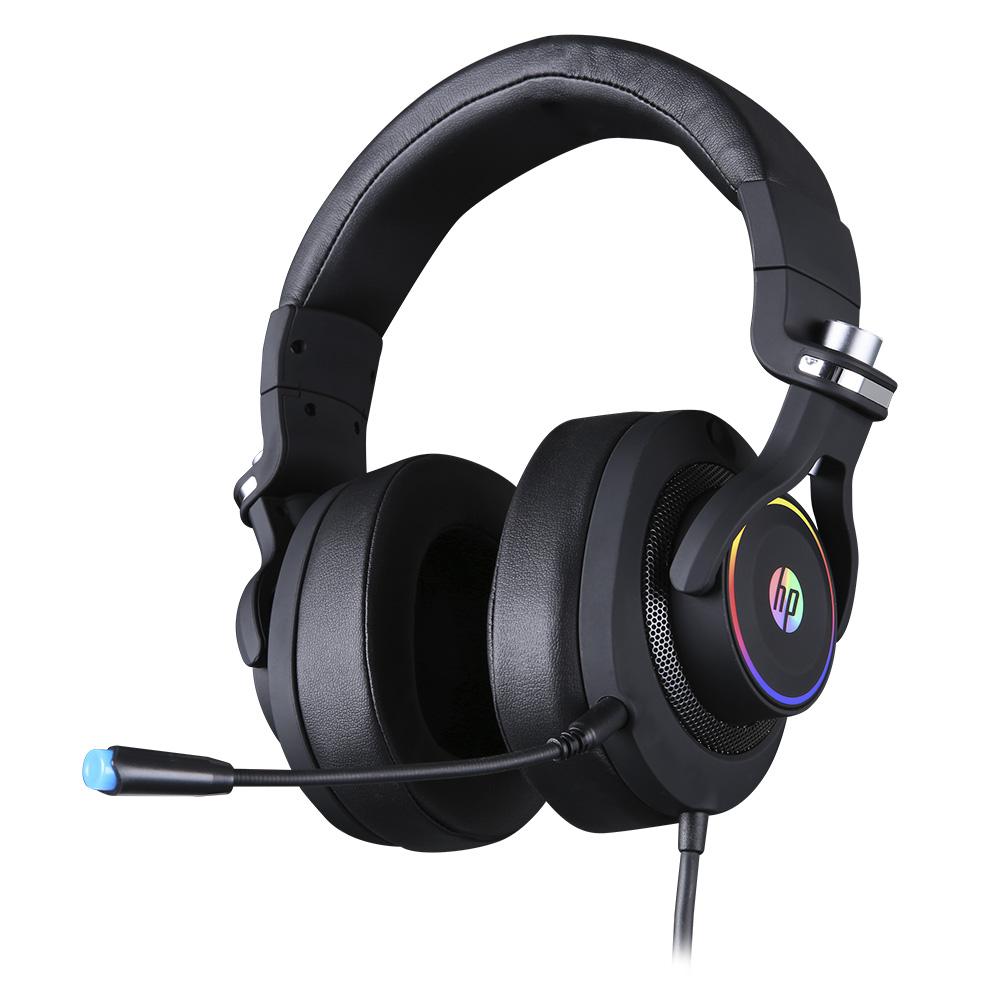Fone Com Microfone Game Stereo 1 P2+USB H500 Preto HP