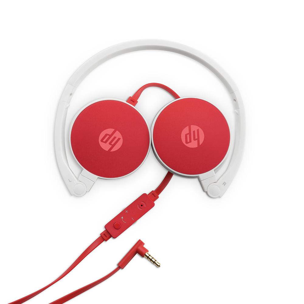 Fone Com Microfone Dobravel H2800 Cardinal Red HP